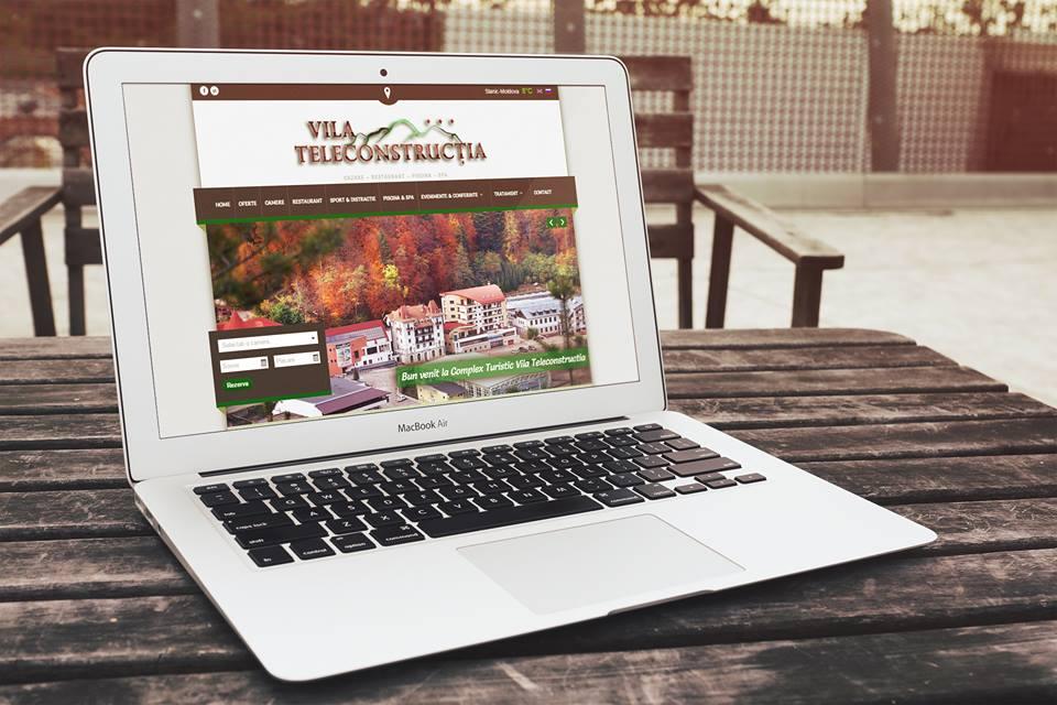 Web design pentru hotel Teleconstrucția din Slănic Moldova, realizare site hotel