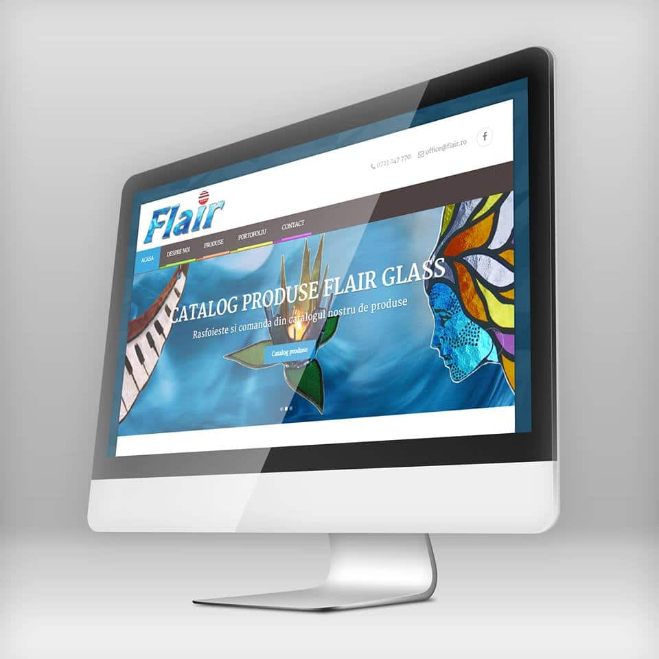 realizare site web flair glass bacau