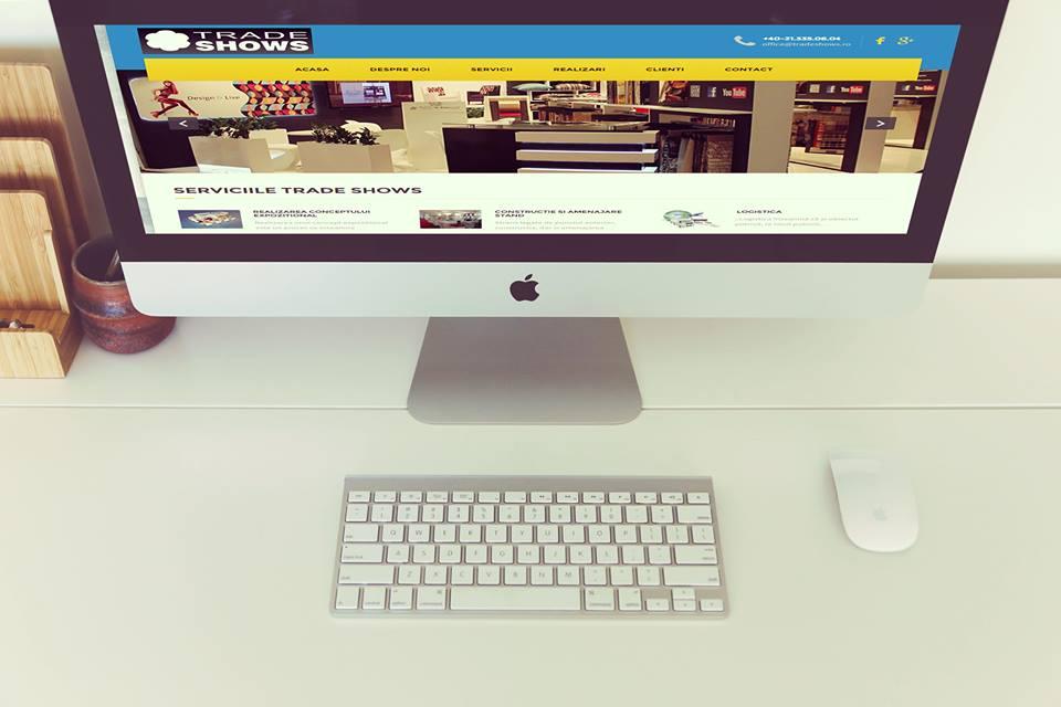 Web Design construire site Web pentru târguri și expoziții