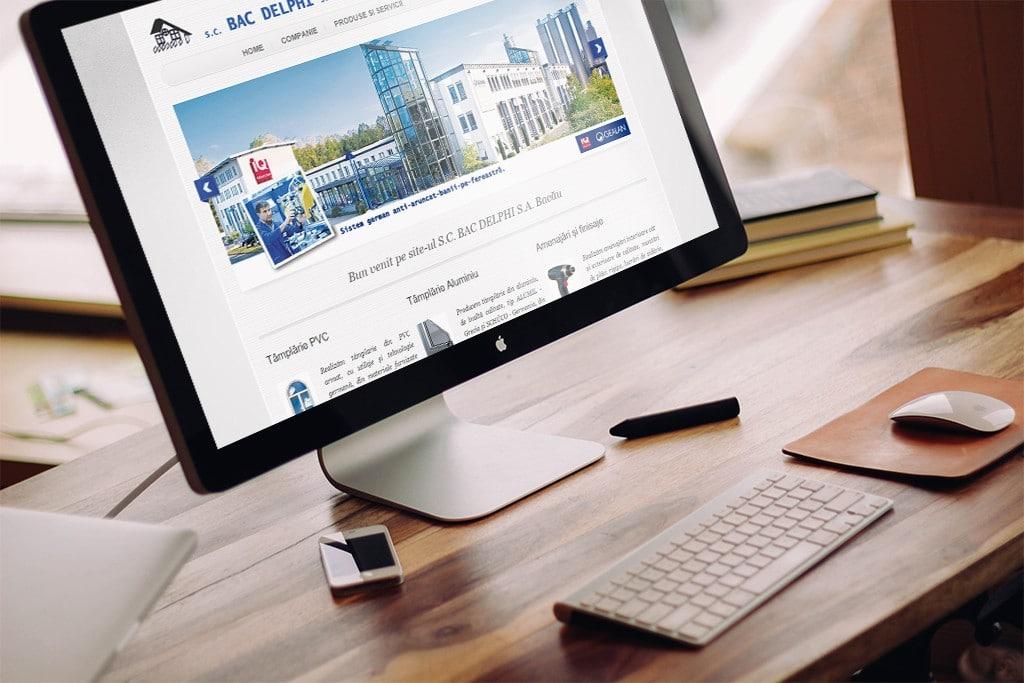 Construire site si web design pentru firmă în domeniul construcțiilor din Bacău