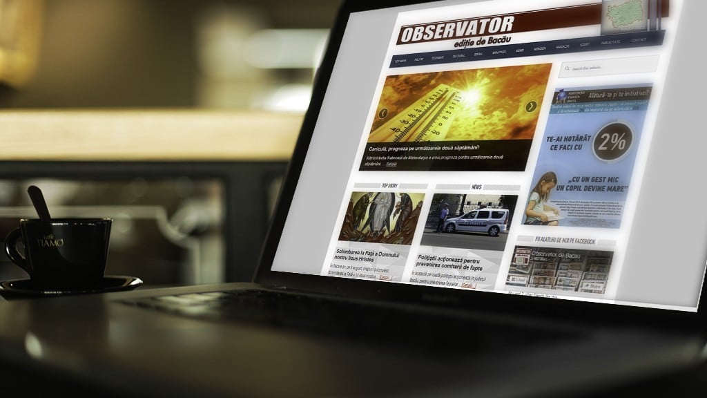 Servicii de mentenanță site și hosting pentru ziar Bacău