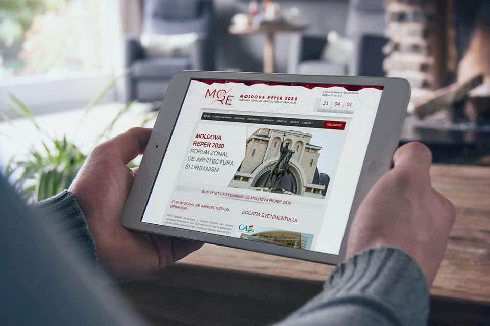 Realizare site web Moldova Reper 2030 - FORUM ZONAL DE ARHITECTURA SI URBANISM